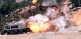 Lava-bomb hits R.V.